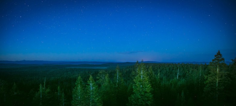 Night Sky Westward from Murray Creek Lookout Tower