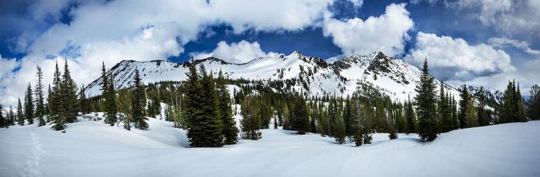 Panorama Snow-Capped Wallowas