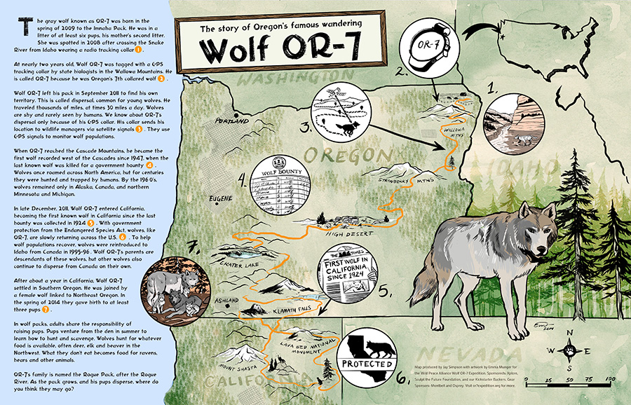 Bears In Oregon Map.Education Wolf Or 7 Expedition