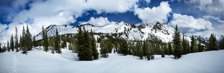 Panorama Snow-Capped Wallowas
